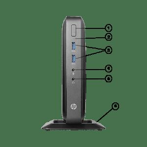 معرفی پورت های جلو تین کلاینت HP T520