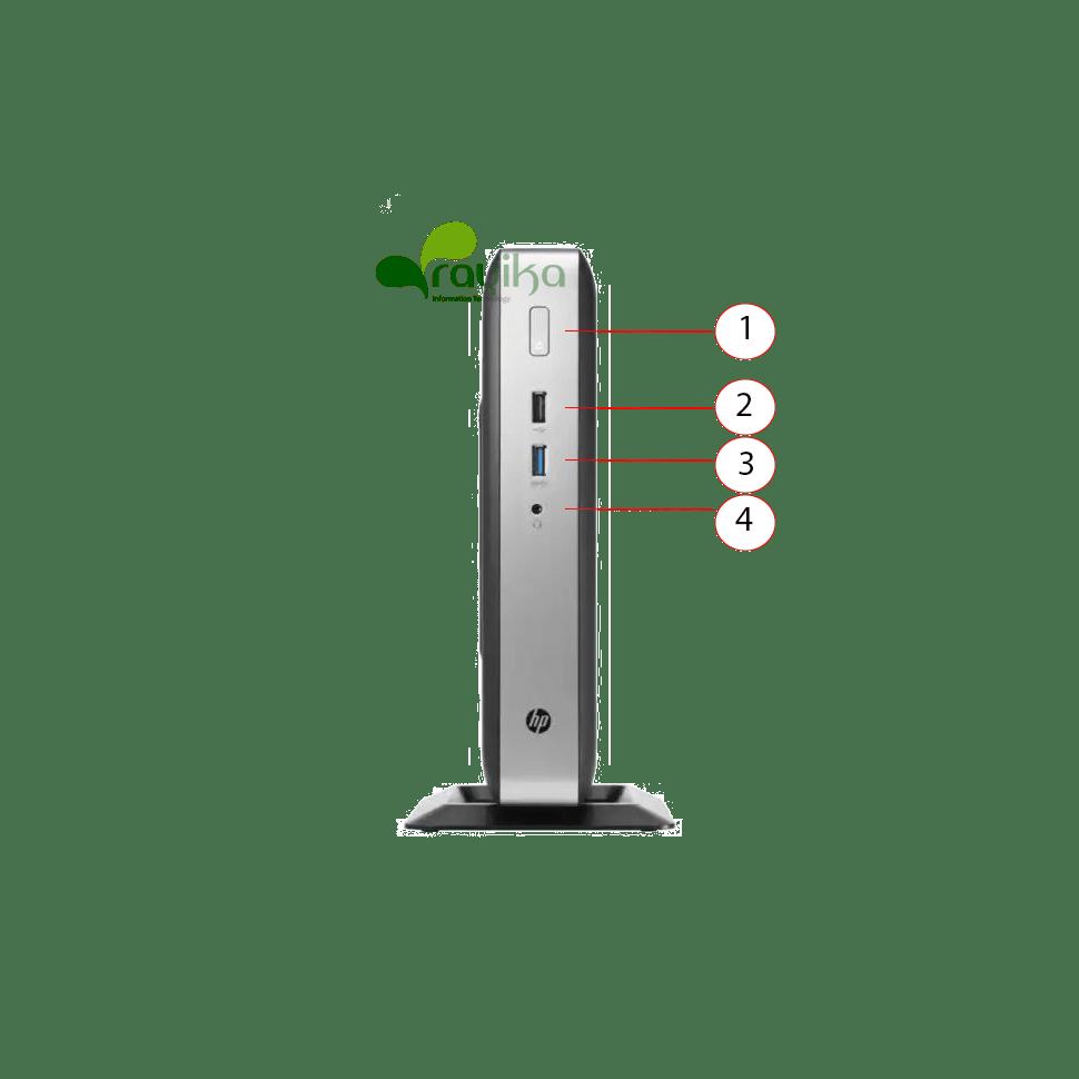 پورت های جلو تینکلاینت HP T628